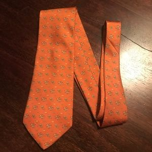 Orange Salvatore Ferragamo Tie